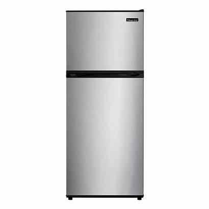 Freezer Refrigerator Stainless Cu Ft Steel Chef