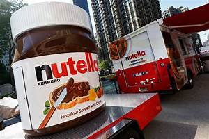 A giant Nutella jar and customized food truck drew ...