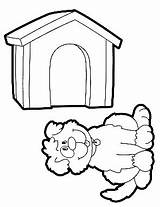 Doghouse Coloring Preschool Comment sketch template