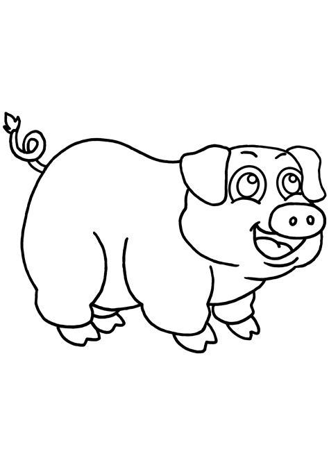 coloriage 195 dessiner d un cochon a imprimer
