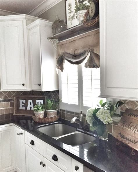 decor above kitchen cabinets 105 best small kitchen windows images on Farmhouse