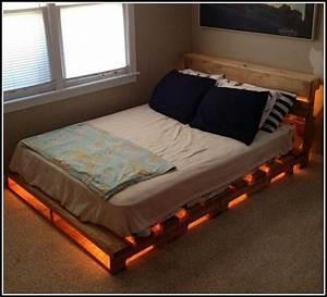 Bett Aus Paletten Mit Beleuchtung Betten House Und