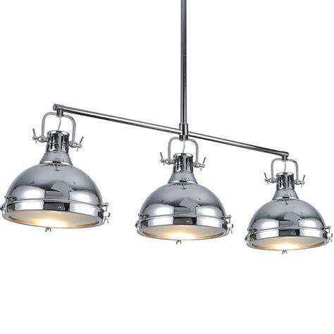 kitchen pendant lights island chandelier hanging chrome light fixture ceiling three