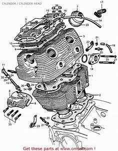 Honda Cb72 Hawk 250 1961 Usa Cylinder    Cylinder Head