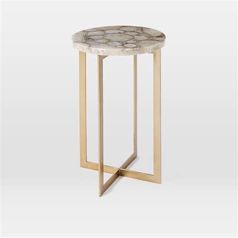 west elm end table agate side table west elm