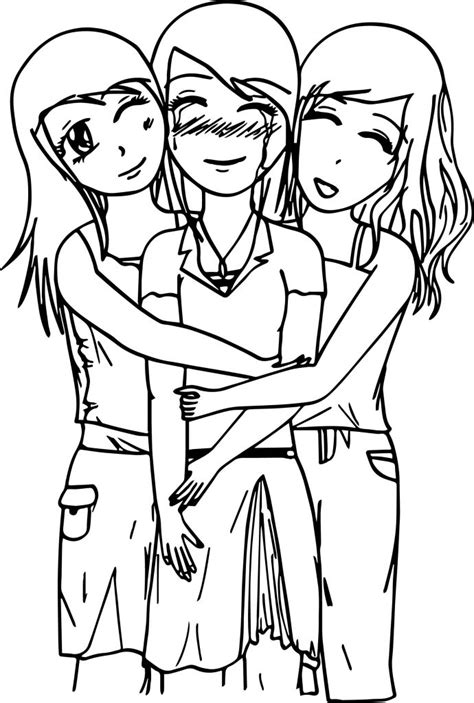 Printable Coloring Pages Best Friends
