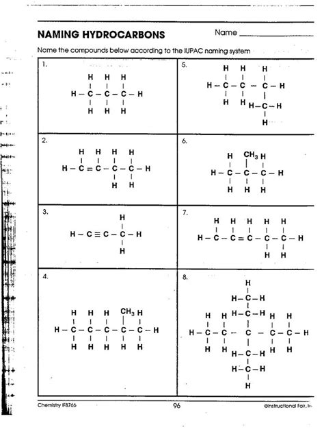 Organic Chemistry Nomenclature Worksheet  Week News Softwares Includes Information About Naming