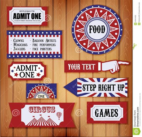 carnival signs stock vector image  monkey card
