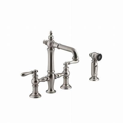 Kohler Stainless Kitchen Faucets Bridge Faucet Vibrant