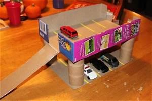 Boite A Cereale : comment fabriquer un garage de voitures avec une bo te de c r ales le blog de kidissimo ~ Teatrodelosmanantiales.com Idées de Décoration