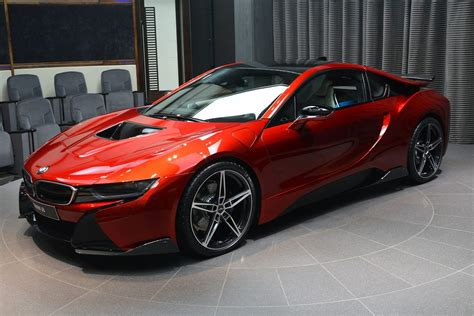 bmw i8 this custom lava red bmw i8 is dripping carscoops