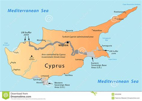 cyprus map royalty  stock  image