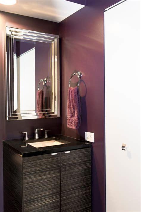 plum and gray bathroom photo page hgtv