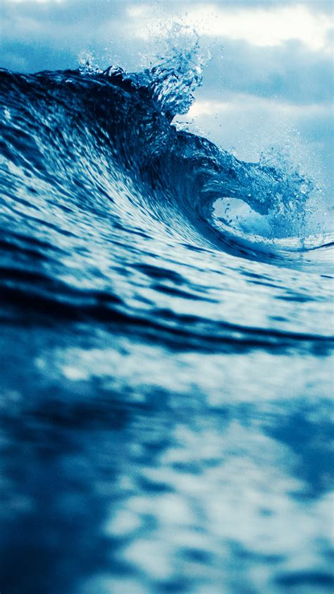 Blue aesthetic wallpapers for free download. Blue Waves HD Wallpaper For Your Mobile Phone
