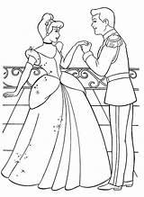 Coloring Cinderella Pages Prince Princess Disney Charming Printable Colouring Princesses Drawing Birthday Aurora Popular Trending Days Last Kiss Coloringhome sketch template