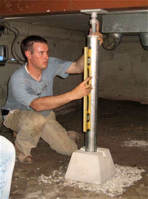 sagging crawl space problems  wisconsin illinois