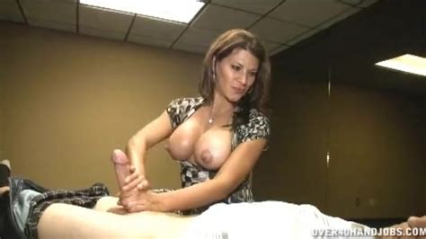 hot brunette milf handjob thumbzilla
