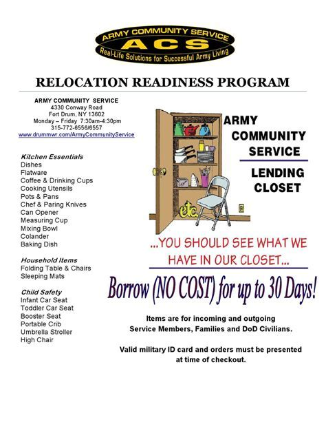 2012 Lending Closet by Fort Drum Relocation   issuu