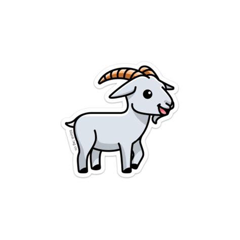 goat sticker blank tag
