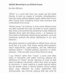 Short argumentative essay about global warming