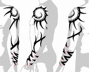 designing a tattoo sleeve template - tribal tattoo sleeves designs drawings back to tribal