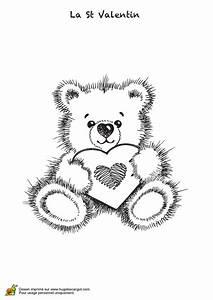 Dessin Saint Valentin : coloriage beau nounours de le saint valentin ~ Melissatoandfro.com Idées de Décoration
