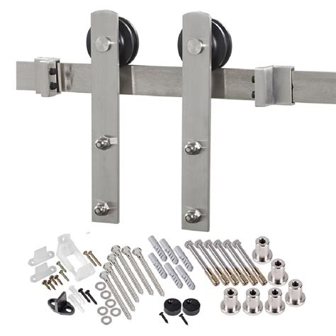 Barn Door Hardware Kit by Truporte 8 Ft Premium Stainless Steel Interior Modern