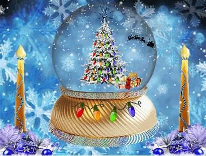 Snow Globe Happy Holiday Animated Merry Christmas