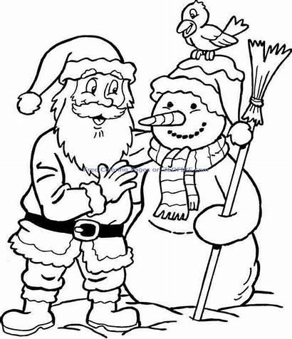 Claus Santa Christmas Coloring Printable Pages
