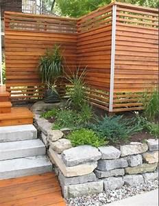 Holz Im Außenbereich : moderne gartenz une schaffen sichtschutz im au enbereich ~ Markanthonyermac.com Haus und Dekorationen