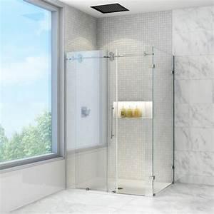 Vigo, Industries, Frameless, Rectangular, Shower, Enclosure, -, 36, U0026quot, X, 48, U0026quot