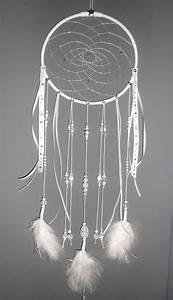 Attrape Reve Blanc : attrape r ves blanc dreamcatcher bijou d 39 int rieur plumes perles et ficelle d coration ~ Teatrodelosmanantiales.com Idées de Décoration