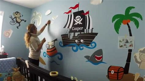 custom nursery wall decor monkey at sea baby room ideas