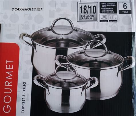 pots quality cookware pans cooking stainless steel pot casseroles