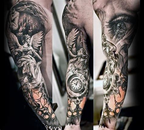 unique sleeve tattoos  men aesthetic ink design ideas