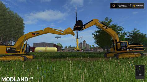caterpillar  excavator  mod farming simulator