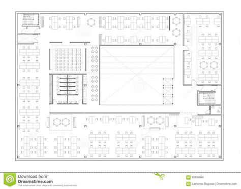 immeuble de bureau floor plan of the office building royalty free stock photo