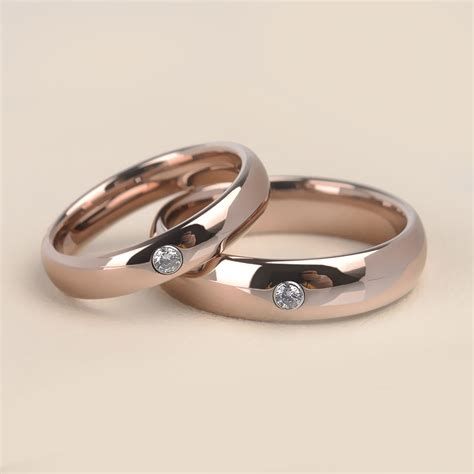New Quality Assurance Simple Rose Gold Plated Tungsten