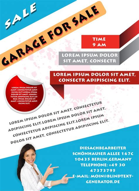 free flyer free printable garage sale flyers templates attract more customers demplates