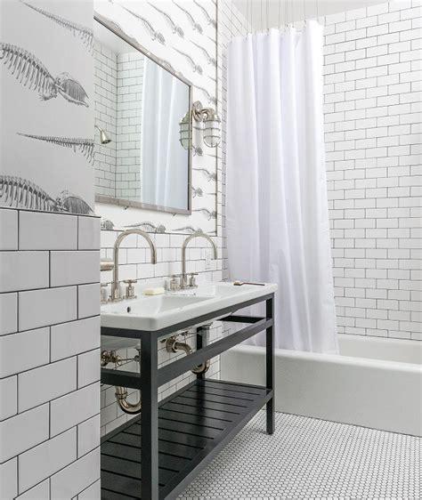 Black And White Tile In Bathroom by Black And White Bathroom Floor Tiles Design Ideas