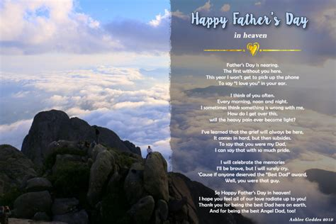 On days like this, many memories of the wonderful moments we enjoy together come to my mind. Father's Day in Heaven Poem - MishMash by Ash graphic design
