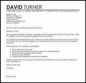 track coach cover letter sample cover letter templates