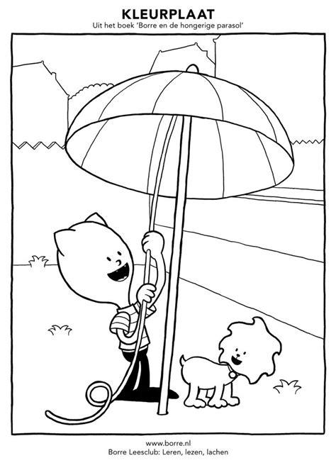 Kleurplaat Parasol by Uit Het Boek Borre En De Hongerige Parasol Kleurplaten
