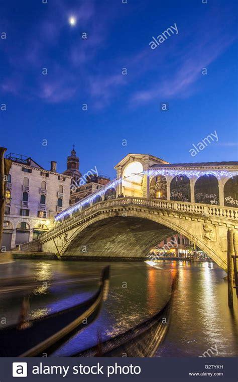 Venice Gondola Night Stock Photos And Venice Gondola Night