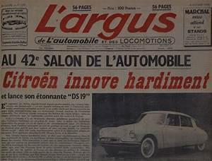 Auto Journal Argus : la citro n ds 19 a 60 ans l 39 argus sort ses archives photo 7 l 39 argus ~ Maxctalentgroup.com Avis de Voitures