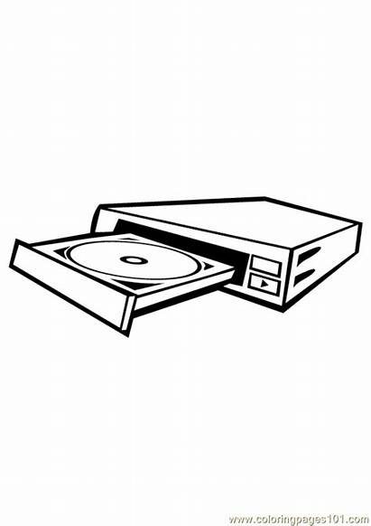 Cd Coloring Rom Drive Computer Pages Printable