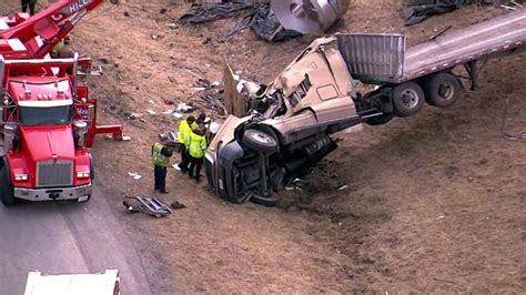 2 People, Dog Rescued From Semi Truck Accident On Route 53