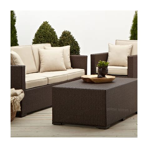Strathwood Outdoor Furniture Company strathwood griffen all weather wicker 3 seater sofa brown