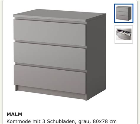 ikea malm kommode grau in 45128 essen for 45 00 for sale