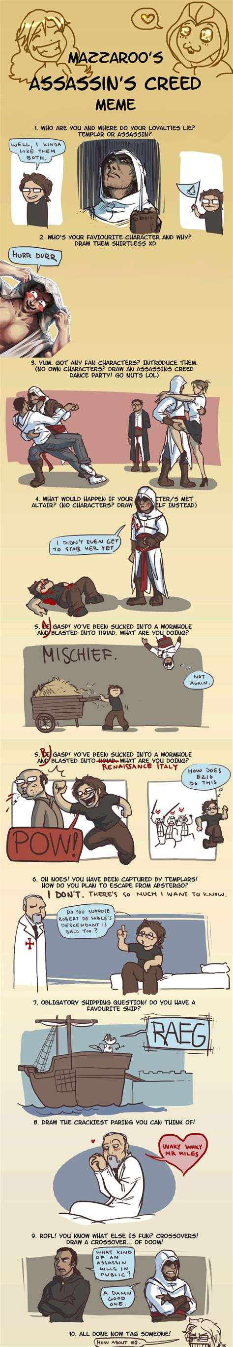 Funny Assassins Creed Memes - assassin s creed meme by theminttu on deviantart